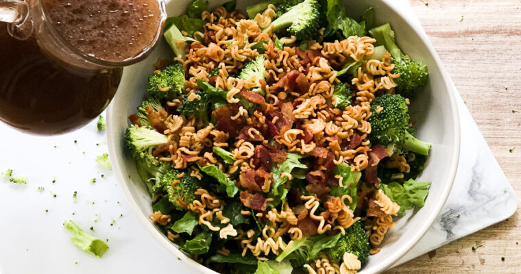 Bacon Broccoli Salad with Ramen