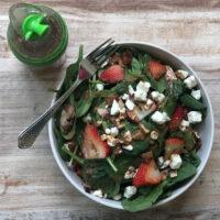 Spinach Walnut Feta Salad
