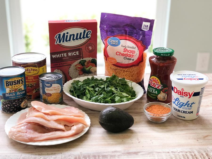 Ingredients for Instant Pot Enchilada Bowl