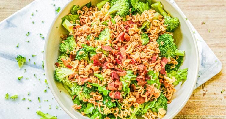 Bacon Broccoli Salad with Ramen