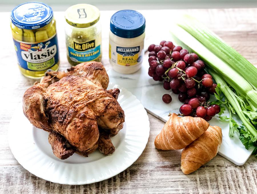 Ingredients for Sam's Club Rotisserie Chicken Salad