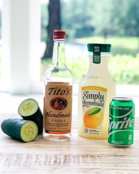 Ingredients for the Cucumber Vodka Cocktail