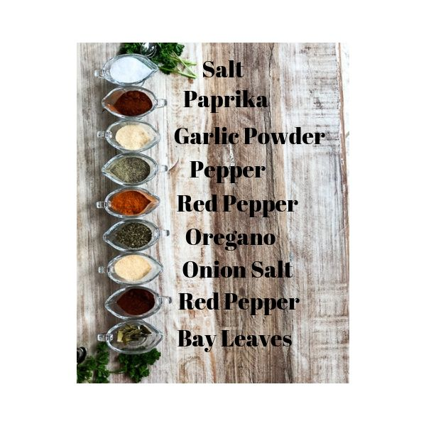 Listed ingredients fro Fresh Simple Home Seasoning