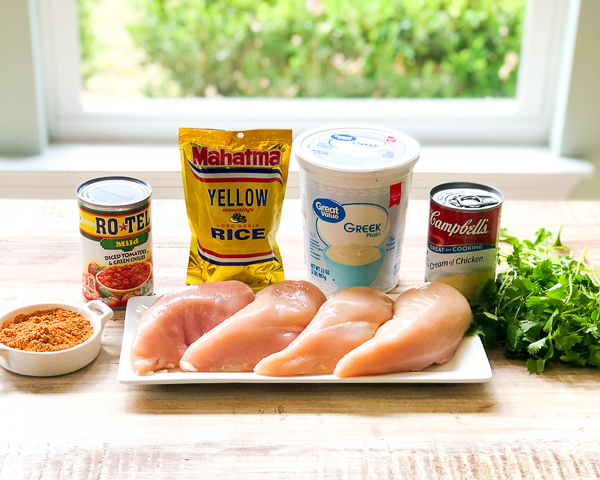 Ingredients for Simple Instant Pot Mexican Chicken
