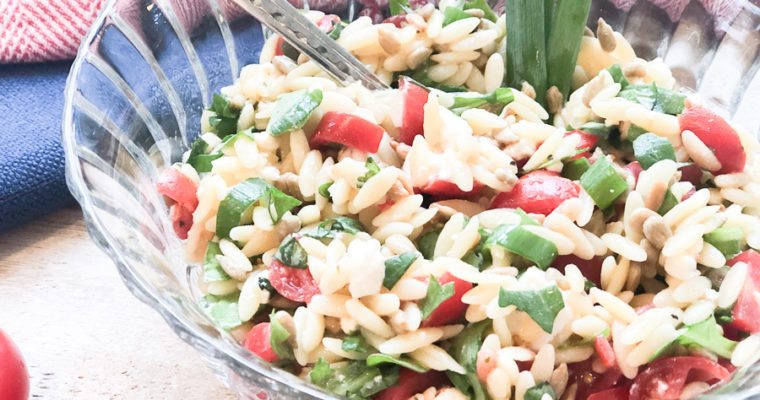 Healthy Orzo Pasta Salad