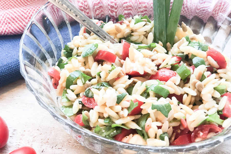 Healthy Orzo Pasta Salad