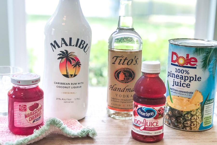 Ingredients for Fresh Simple Malibu Paradise
