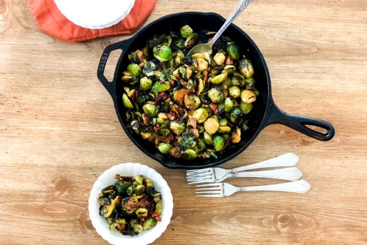 Maple Bacon Brussel Sprouts