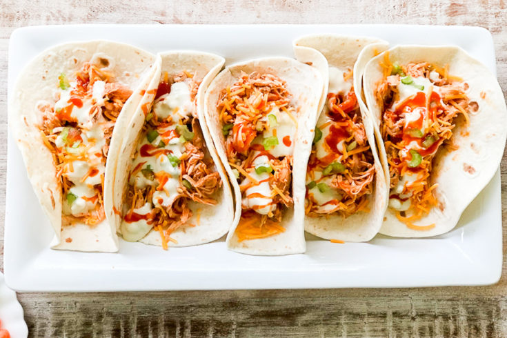 Shredded Buffalo Chicken Tacos