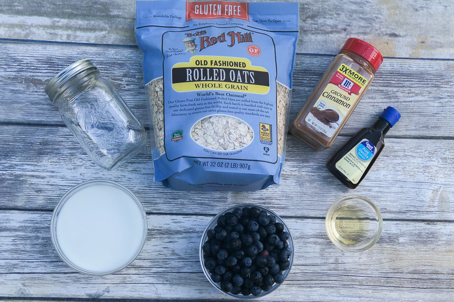 Ingredients for Simple Healthy Overnight Oats