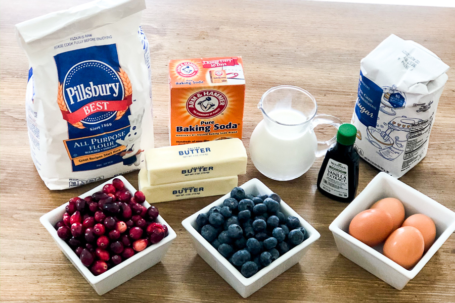 Ingredients for Very Berry Muffins