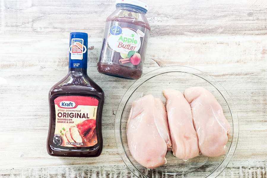 Ingredients for apple butter chicken