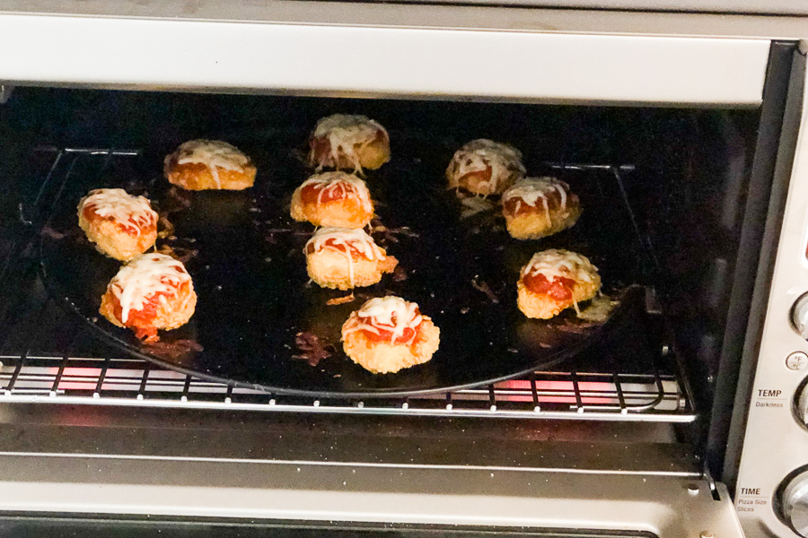 Chicken Parm Bites in the oven