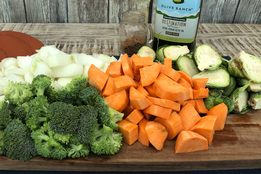 Ingredients for Easy Oven Roasted Vegetables