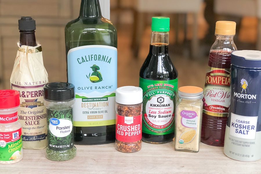 Ingredients for Most Delicious Steak Marinade