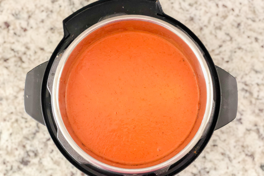 Fire Roasted Tomato Soup in instant pot