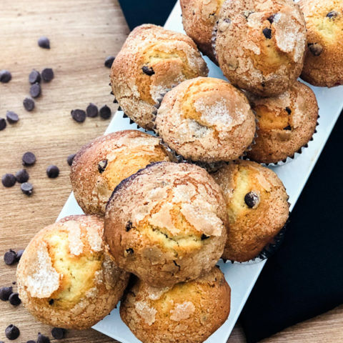 Simple Chocolate Chip Muffins