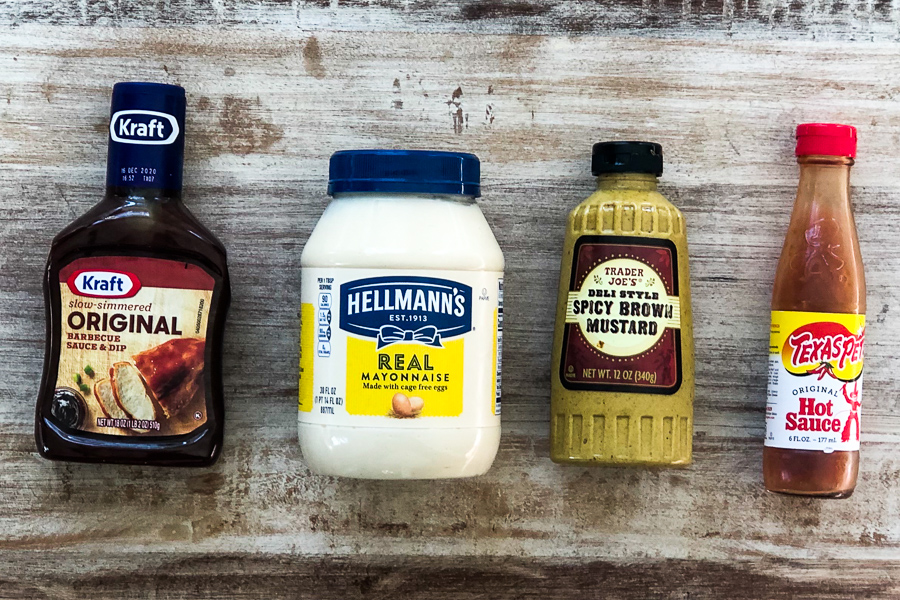 Ingredients for BBQ Mayo