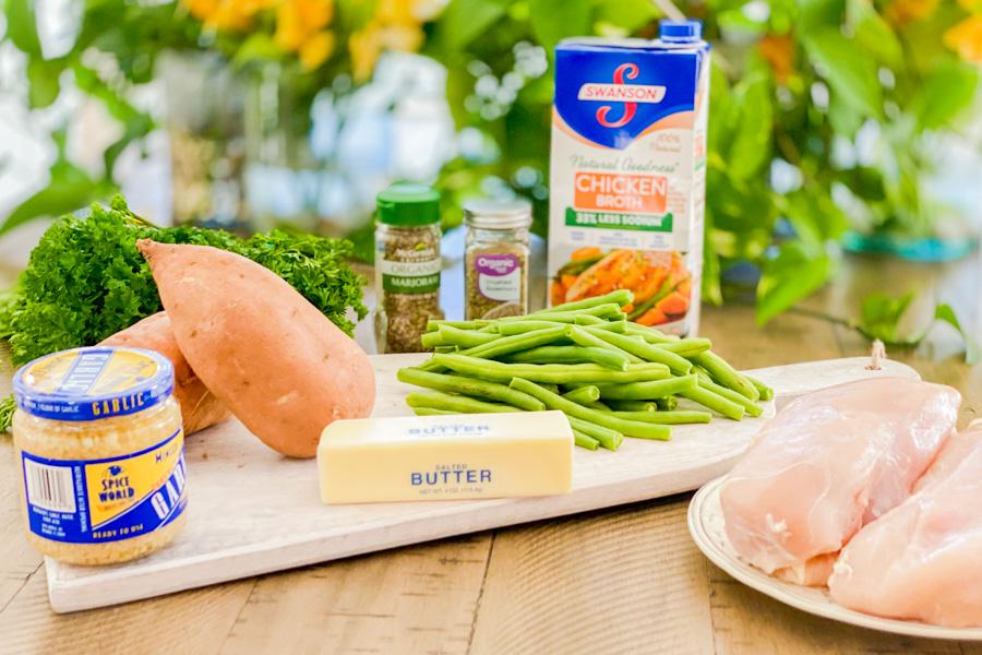 Ingredients for Herbed Garlic Chicken