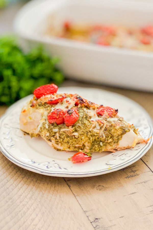 Pesto Bruschetta Chicken Bake