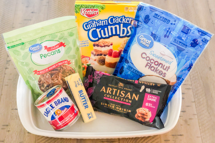 Ingredients for our Quick Bake Magic Bars
