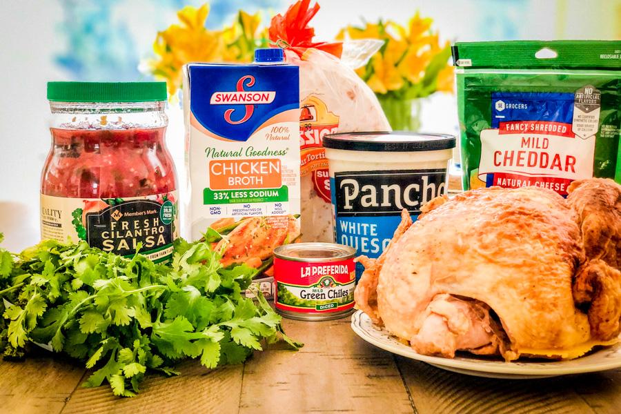 Ingredients for our Sam's Club Chicken Enchiladas