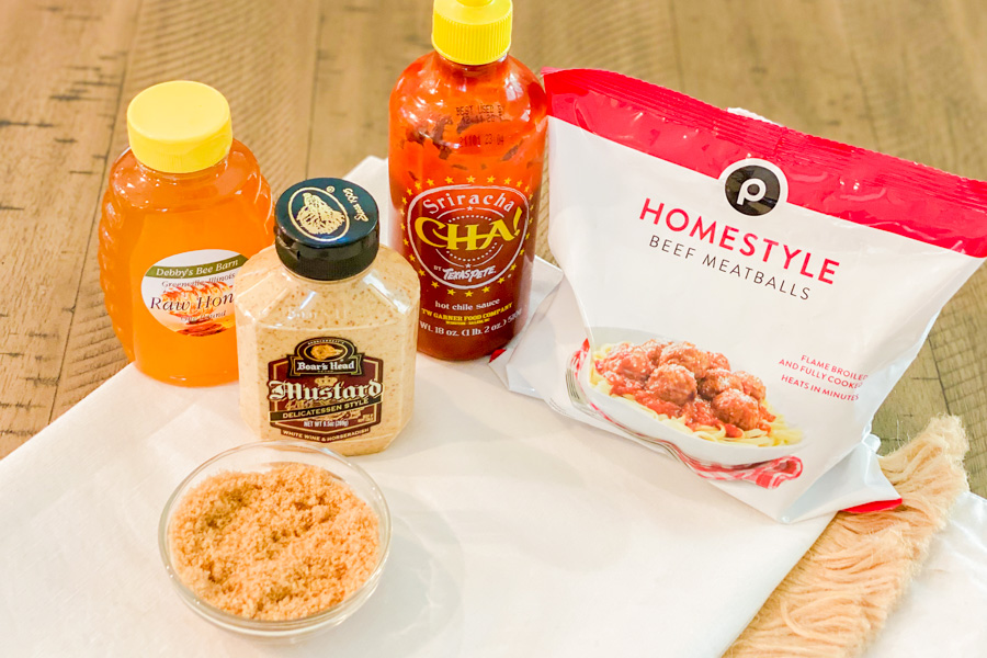 Ingredients for our Spicy Honey Meatballs