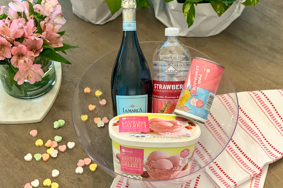 Ingredients for Champagne Sherbet Punch