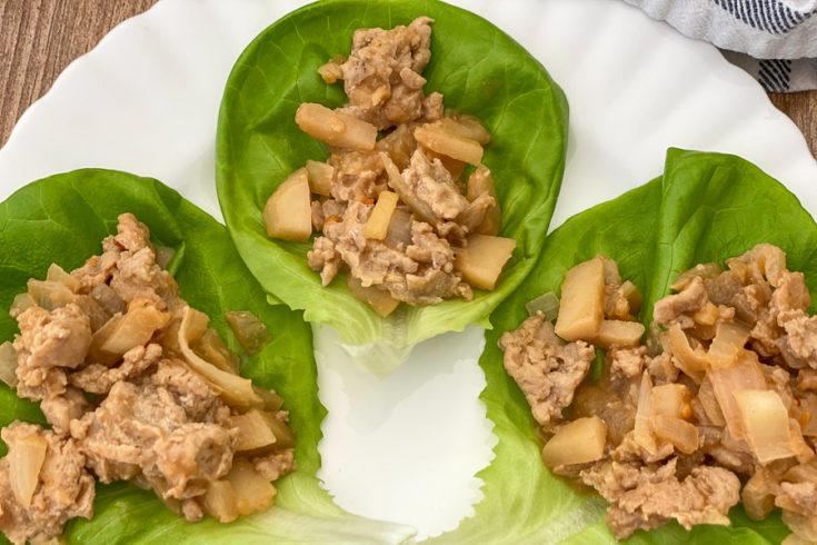 Simple Chicken Lettuce Wraps