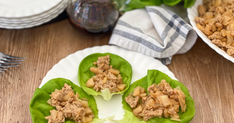Simple Chicken Lettuce Wraps