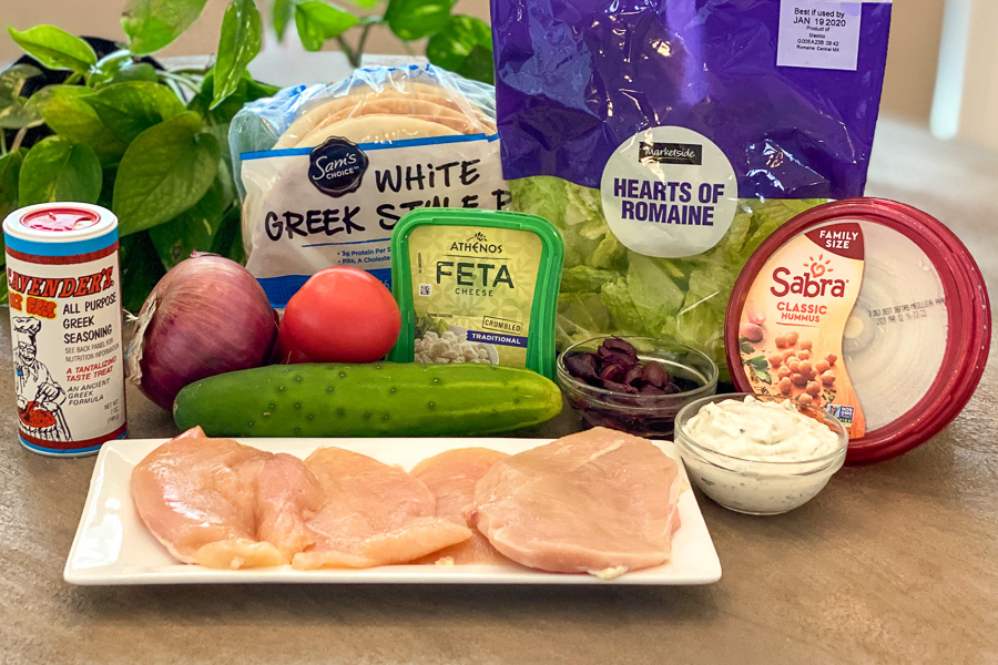 Ingredients for the Ultimate Greek Chicken Platter