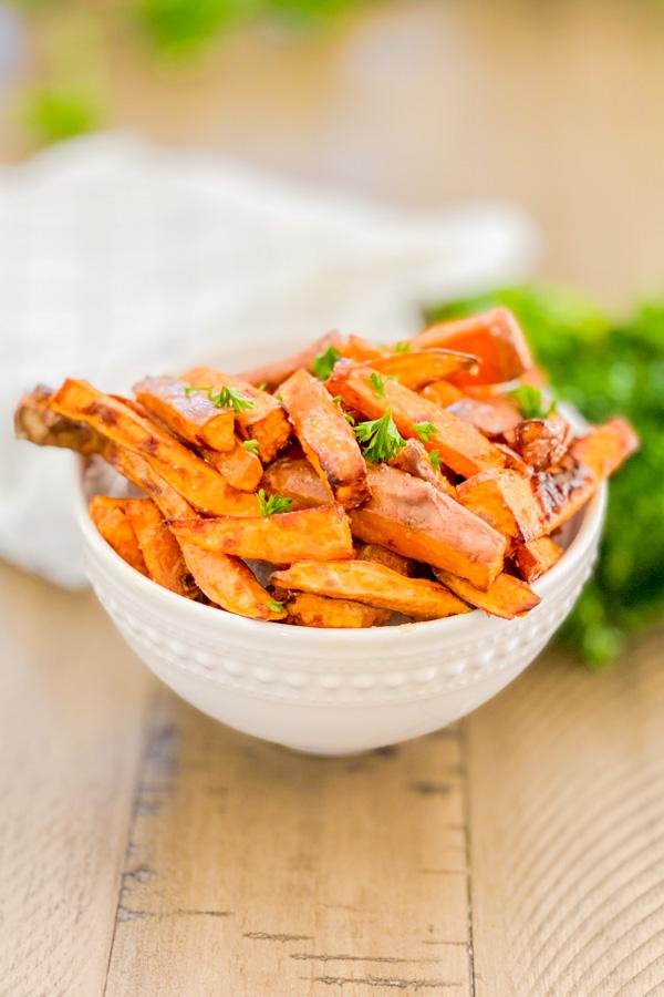 Salted Honey Sweet Potato Fries