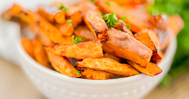 Salted Honey Sweet Potato Fries