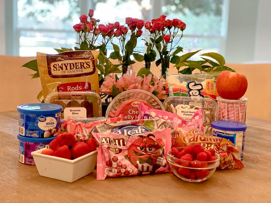 Ingredients for the Valentine's Dessert Board
