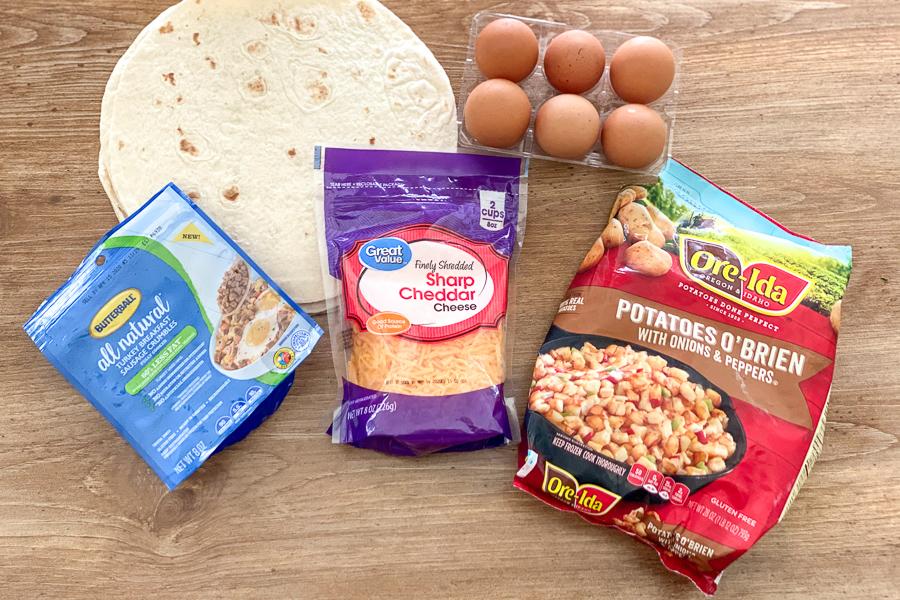 Ingredients for Freezer Breakfast Burritos