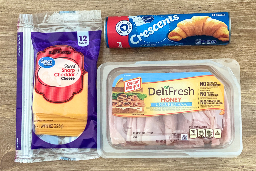 Ingredients for Ham and Cheese Crescents