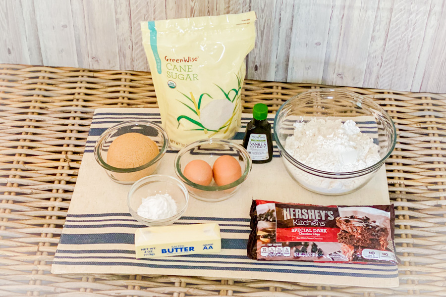Ingredients for our Dark Chocolate Cookie Dough