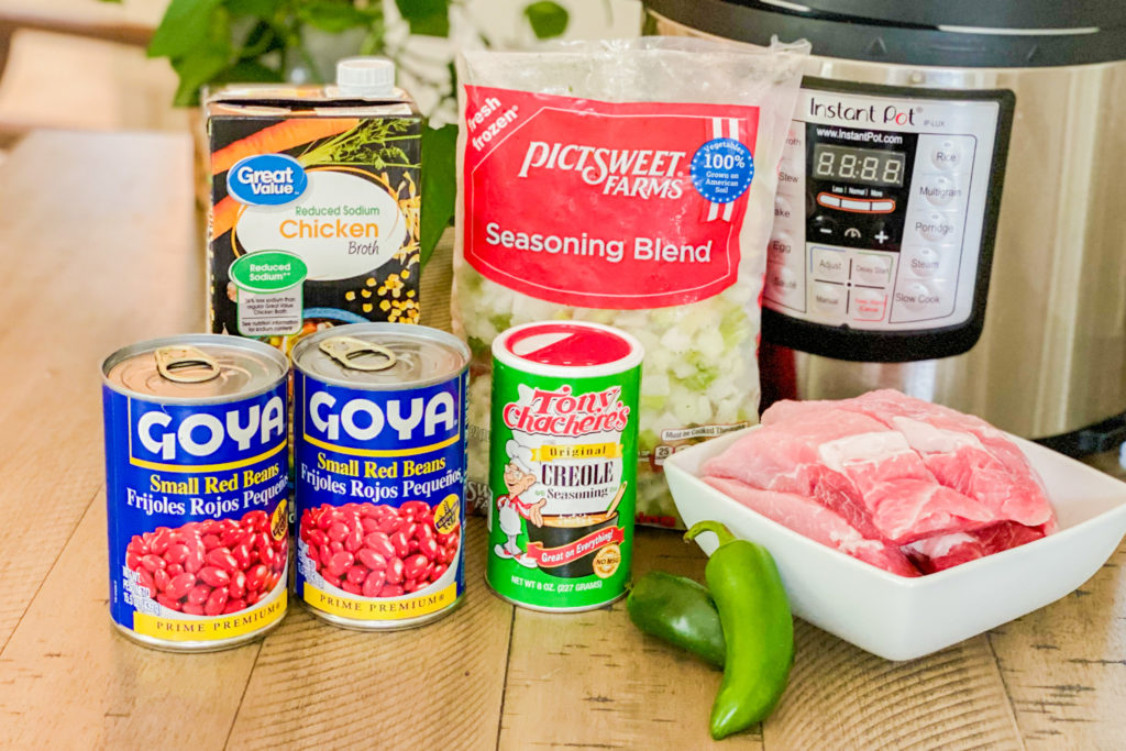 The ingredients for our Instant Pot Creole Pork Stew