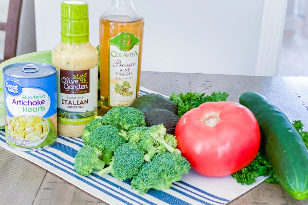 Ingredients for our Italian Marinated Salad