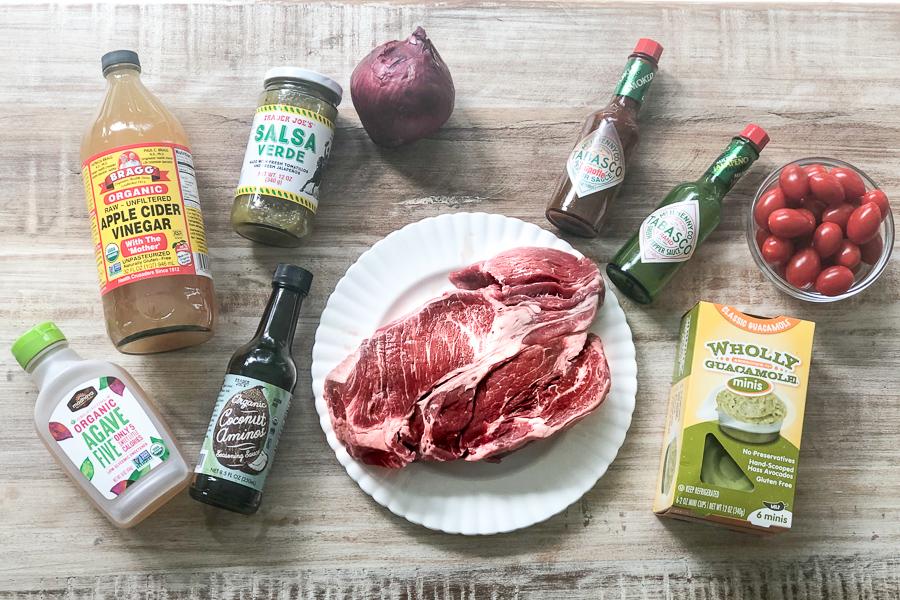 Salsa Verde Tacos Ingredients