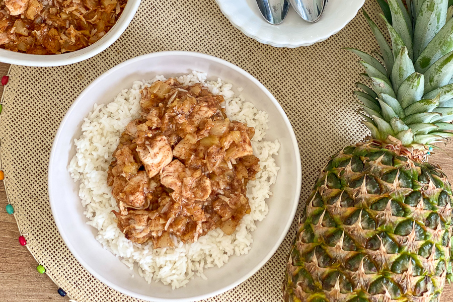 Pineapple Jerk Chicken Bake