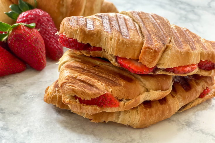 Nutella and Strawberry Croissant