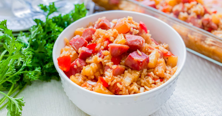 Easiest Ham and Rice Casserole