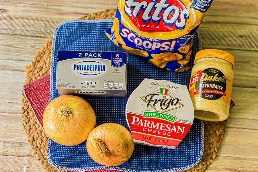 Ingredients for Vidalia Onion Dip