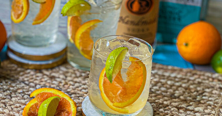 Vodka Tonic with Orange