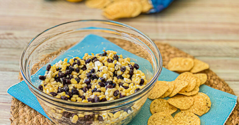 Corn Feta and Black Bean Dip