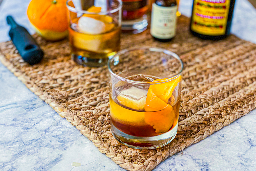 The final product of our Kentucky Owl Old Fashioned.