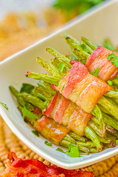 Sweet Bacon Wrapped Green Beans