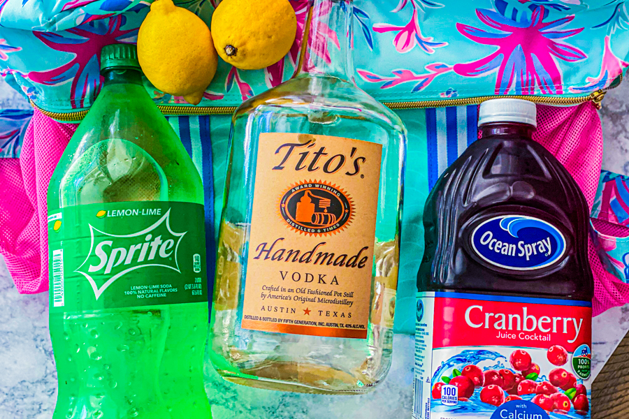 The ingredients for our Summertime Cocktail.