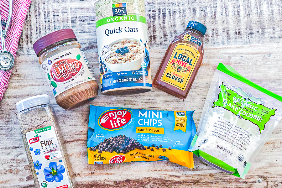 Ingredients for Almond Butter Protein Bites